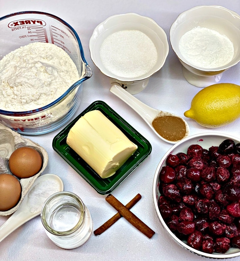 Cherry pie ingredients