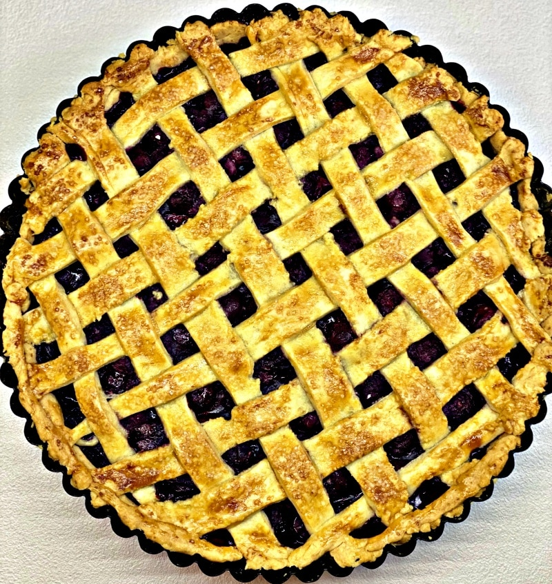 Home-made Baked Cherry pie