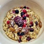 Cranberry Porridge with honey