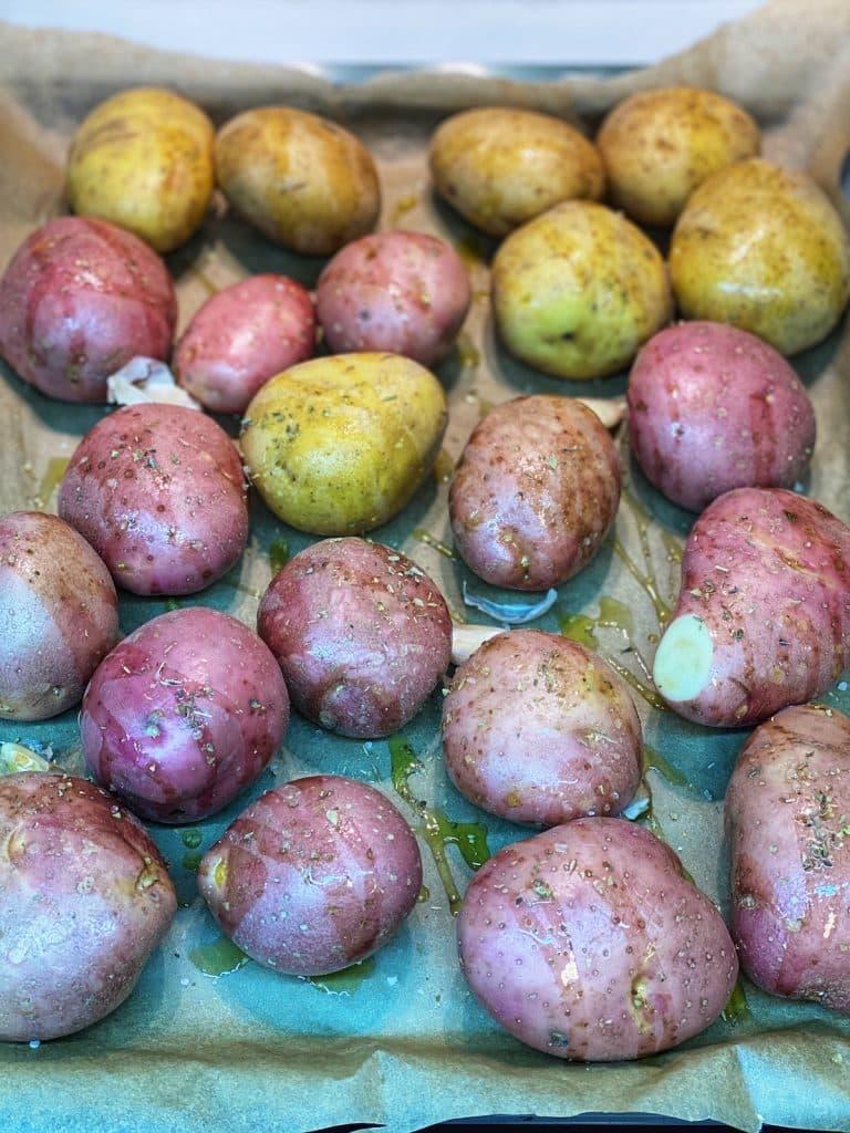 How to bake whole potatoes