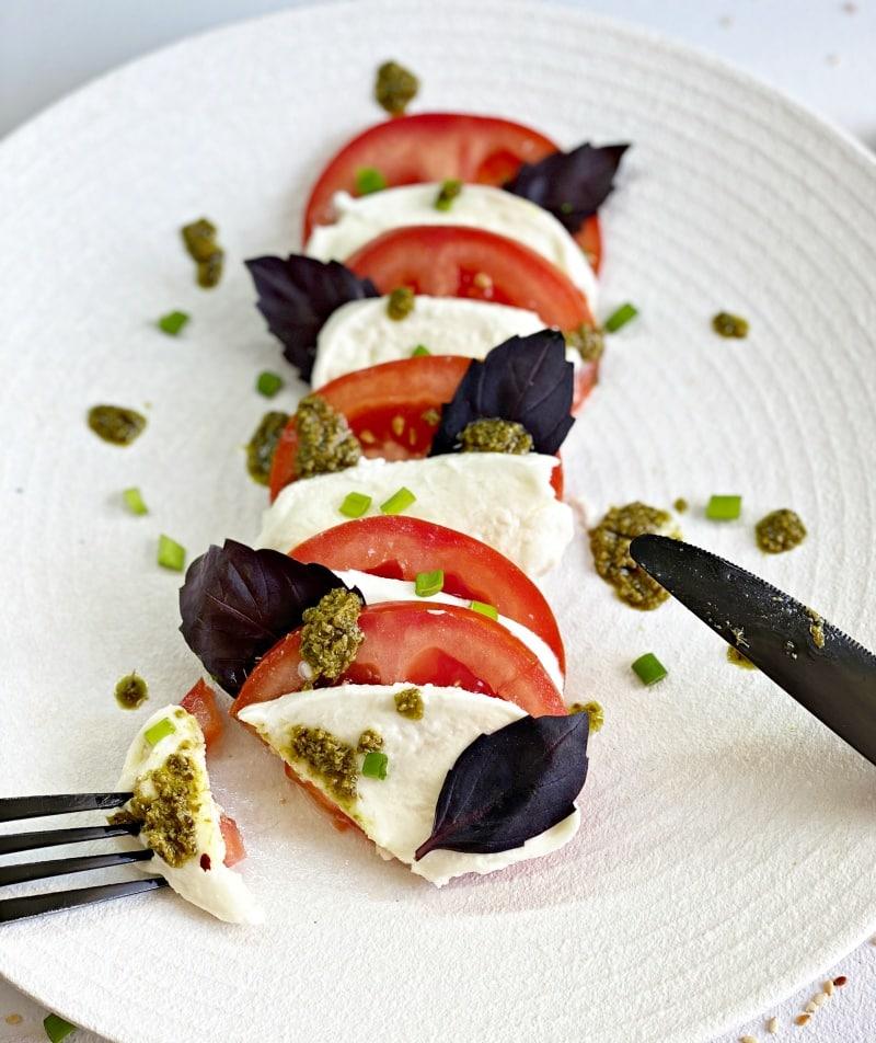 caprese salad basil