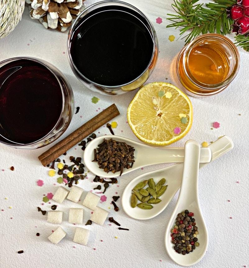 Traditional Spicy Gluhwein Ingredients