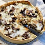 mushroom quiche with cheese