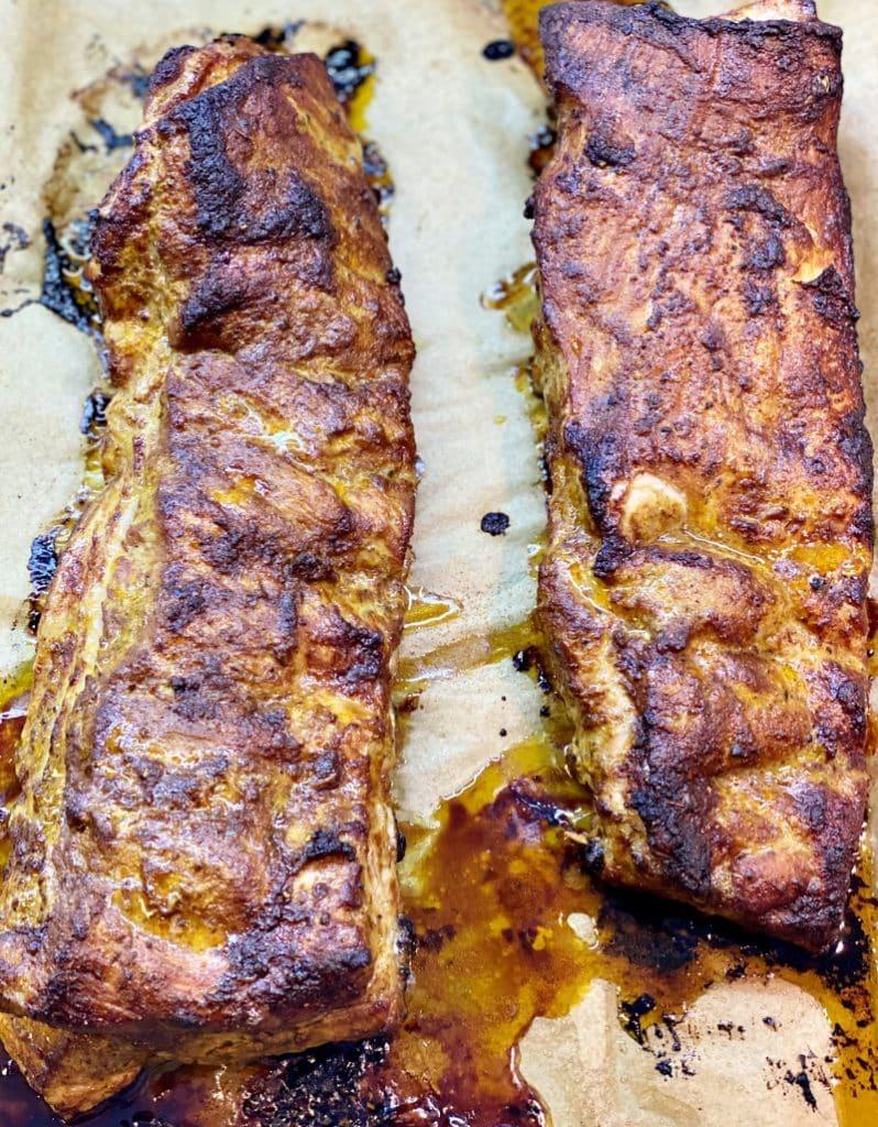 homemade organic pork ribs