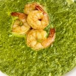 instant pot spinach soup with shrimps