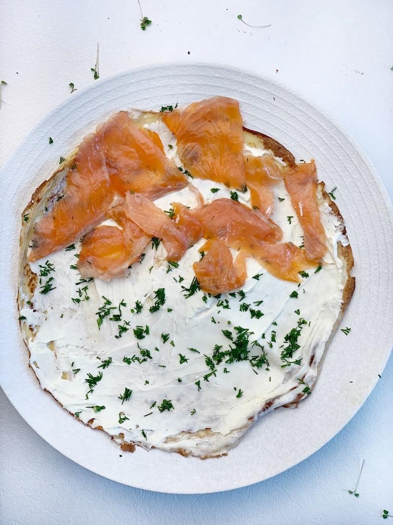 how to make salmon crepes