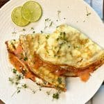 crepes with salmon cream cheese and dill