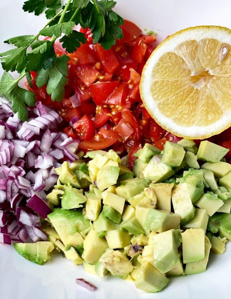 Chunky and healthy avocado salsa