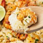 coconut rice with shrimps