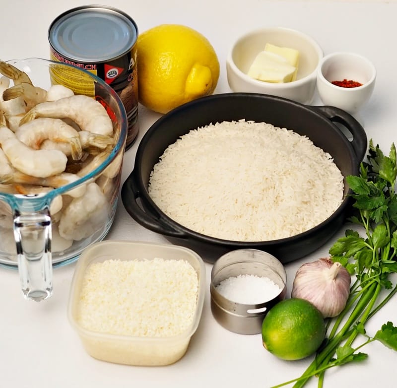 coconut rice shrimps ingredients