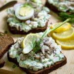 Danish open-faced sandwich